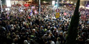İsrail'de Netanyahu karşıtı protesto