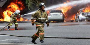Kazakistan'da otobüs yandı: En az 52 ölü