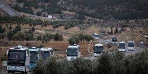 ÖSO, Kilis'ten otobüslerle sınırı geçti