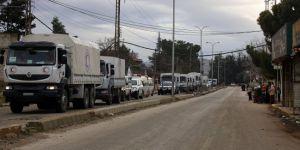 Yardım konvoyları Afrin'e ulaştı