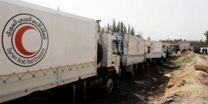 İnsani yardım konvoyu Doğu Guta'da