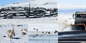 Erzurum ve Kars nisanda beyaza büründü