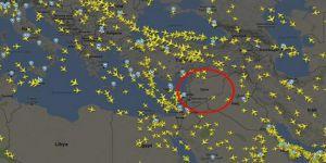 Suriye hava sahası trafiği durdu