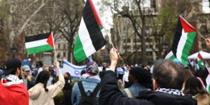 New York'ta Gazze protestosu