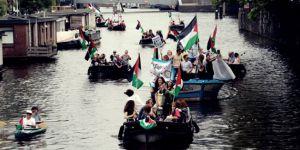 İsrail'in Gazze'ye uyguladığı abluka Hollanda'da protesto edildi