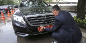 Başbakan Binali Yıldırım'ın Araç Plakası Söküldü