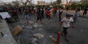 Basra'da gösteriler devam ediyor