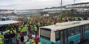 3. havalimanı inşaatında işçiler eylem başlattı