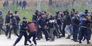 Bosna polisiyle göçmenler arasında arbede