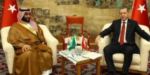 Erdoğan, Prens Selman'la görüştü