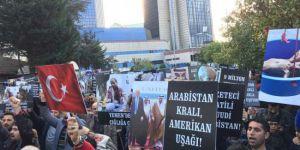 İstanbul'daki Arabistan Konsolosluğu Önünde Protesto