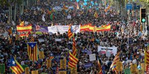 Bağımsızlık yanlısı Katalanlar sokaklara indi