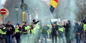 Belçika'da 'sarı yeleklilerden' yol kapatma eylemi
