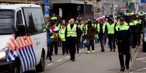 Hollanda'da sarı yeleklilerin hükümet protestosu sürüyor
