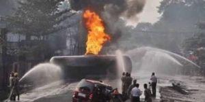 Akaryakıt tankeri patladı: 12 ölü, 20 yaralı