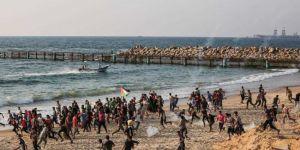 Siyonistler Deniz Ablukasını Kırmaya Çalışan Filistinlilere Saldırdı