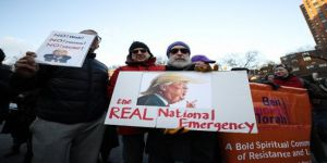 ABD'de Trump protesto edildi