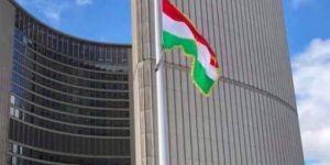 Kanada'da Halepçe Katliamı'nın yıldönümünde Kürdistan bayrağı göndere çekildi