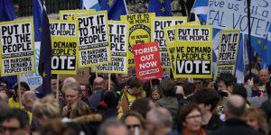 İngiltere'de dev Brexit Eylemi