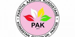 PAK: KCK ve HDP'nin bu yanlışta diretmesinin vebali ağır olacaktır