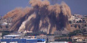 Barbar ordudan Filistin'e havadan ve karadan saldırı