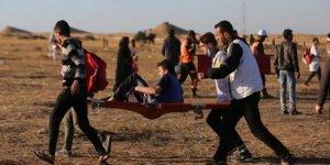 İşgal güçleri Gazze sınırında 55 Filistinliyi yaraladı