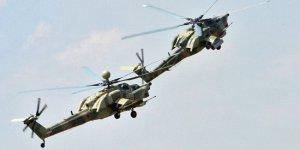 Rusya'da savaş helikopteri düştü