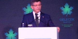 Ahmet Davutoğlu, Gelecek Partisi'ni resmen açıkladı