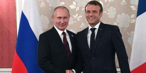 Putin ile Macron Libya ve Suriye'yi görüştü