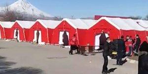 İran sınırına koronavirüse karşı sahra hastanesi kuruluyor