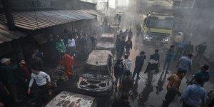 Gazze'de yangın felaketi: 9 ölü, 53 yaralı