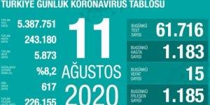 15 ölüm: Bugünkü vaka sayısı 1183