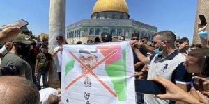 Mescid-i Aksa'da Abu Dabi Veliaht Prensi Bin Zayid protesto edildi