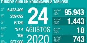 Koronavirüsten 18 can kaybı: Yeni vaka sayısı 1443