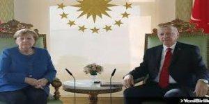 Erdoğan ile Almanya Başbakanı Merkel video konferansla görüştü