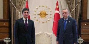 Nêçîrvan Barzanî û Recep Tayyip Erdogan civiyan