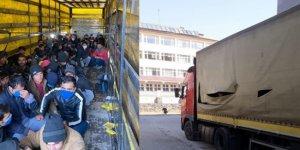 TIR'ın dorsesinde 210 düzensiz göçmen çıktı