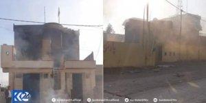 Süleymaniye'de 3 partinin binası yakıldı
