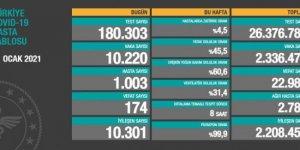 174 kişi hayatını kaybetti: Yeni vaka sayısı 10 bin 220 oldu