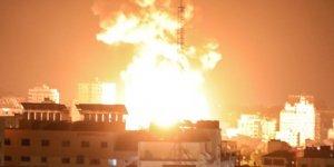 Siyonist rejim Gazze'nin çeşitli noktalarına yoğun saldırılar düzenledi