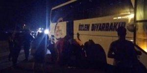 Antalya'da Diyarbakır otobüsüne saldırı