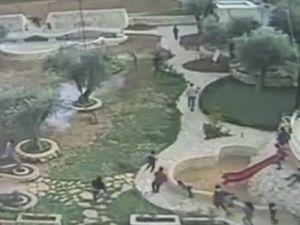 İsrail Filistin'de çocuk parkına bibergazı attı