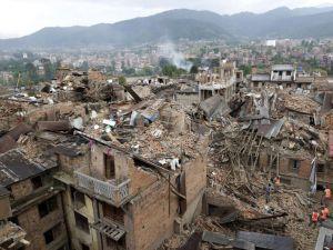 Depremle sarsılan Katmandu'dan İHA'yla çekilen görüntüler -